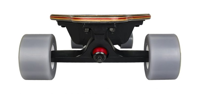 front of electric skateboard