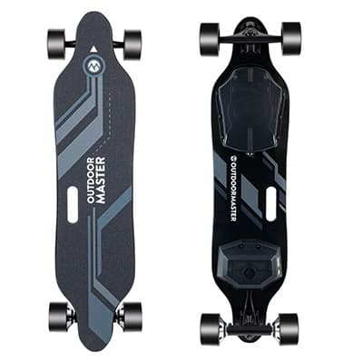 Booster Electric Skateboard Front and Back View